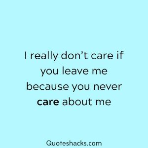 80 I Don T Care Quotes And Sayings For You Quotes Hacks